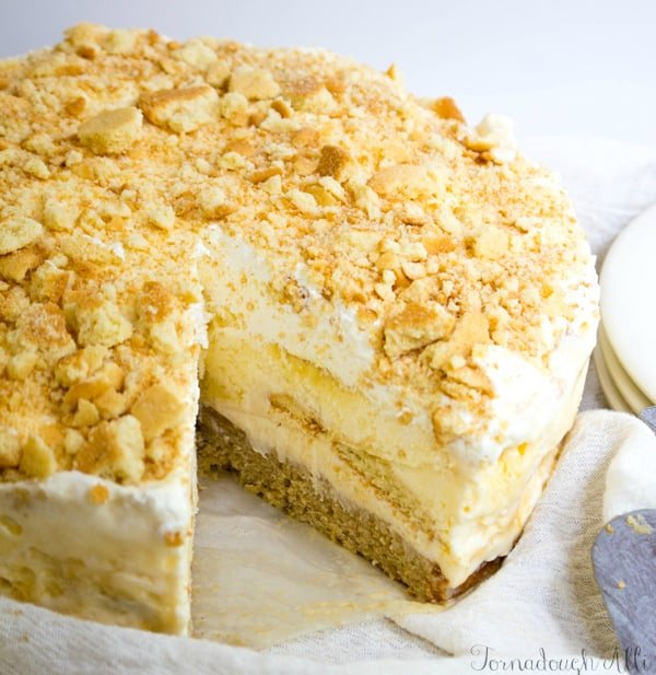 Banana Caramel Ice Cream Cake - Tornadough Alli