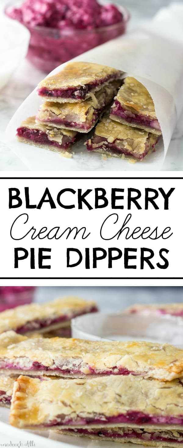 Blackberry Cream Cheese Pie Dippers Collage