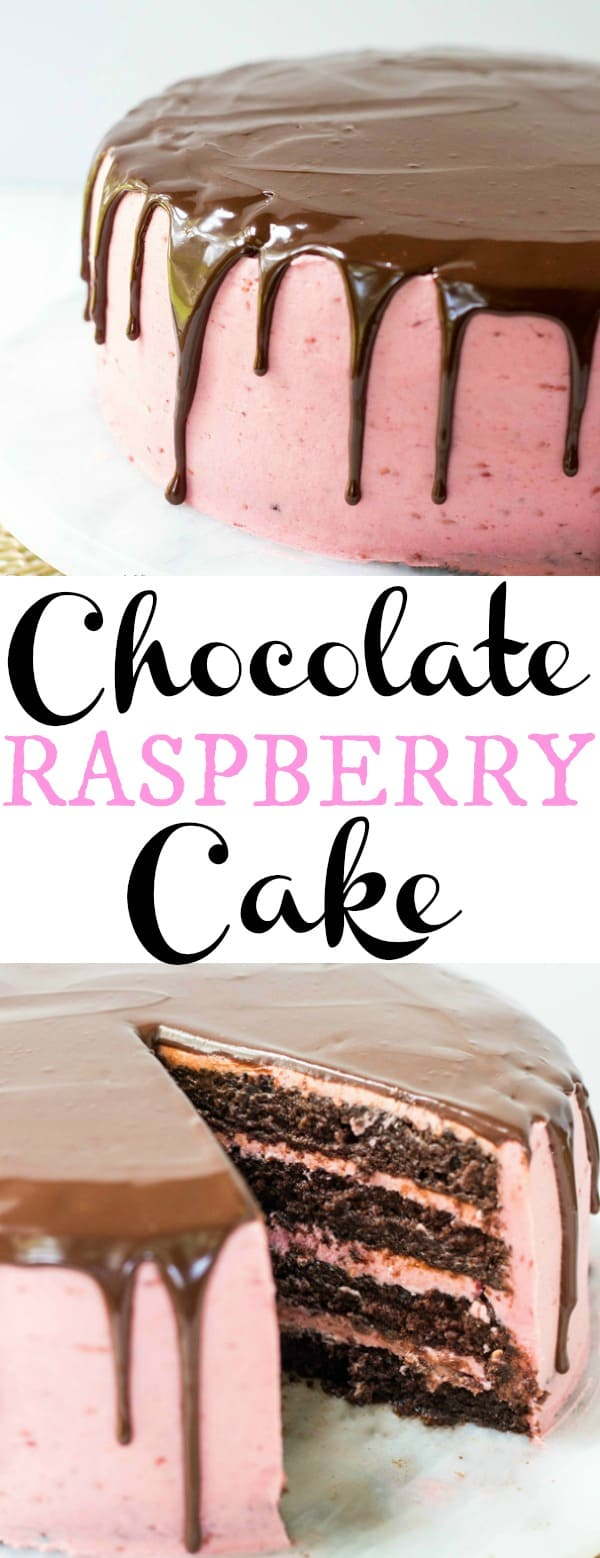 Chocolate Raspberry Cake Collage