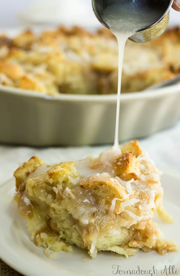 Coconut Cream Bread Pudding