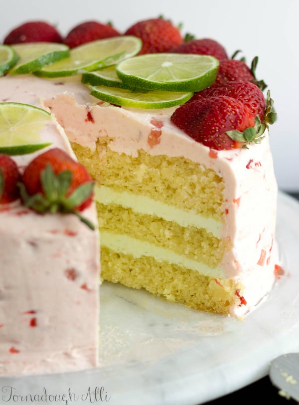 Light and fresh are the key to this scrumptious Strawberry Lime Cake ...