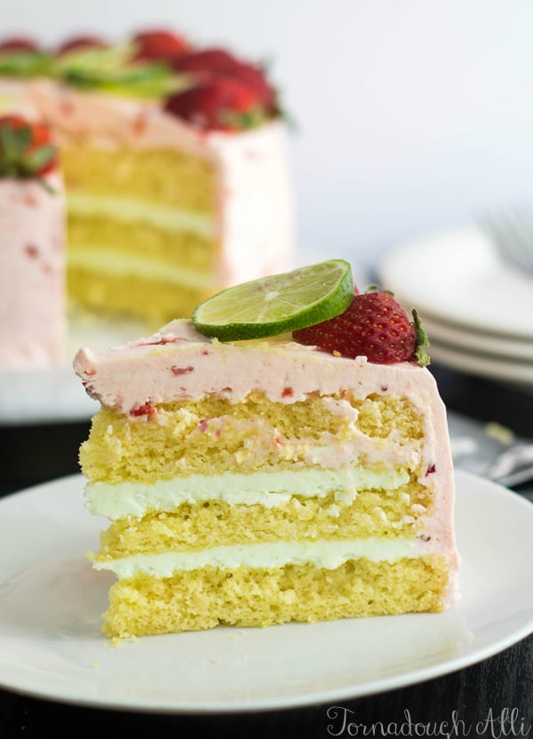 Strawberry Lime Cake