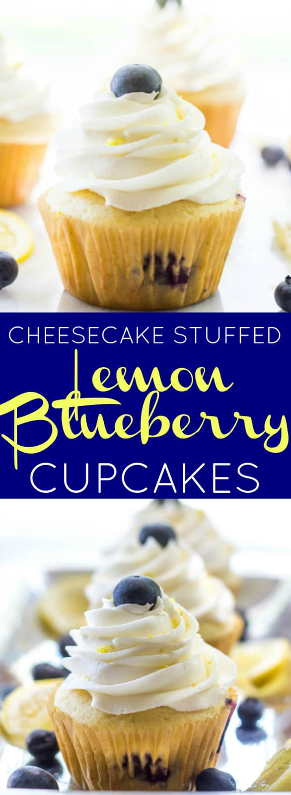 Blueberry Lemon Cheesecake Cupcakes Pin