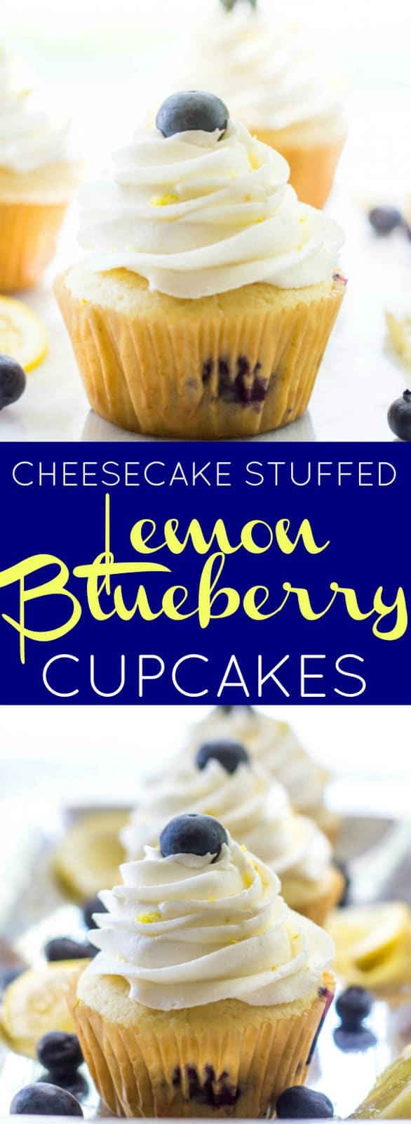 Blueberry Lemon Cheesecake Cupcakes Pin