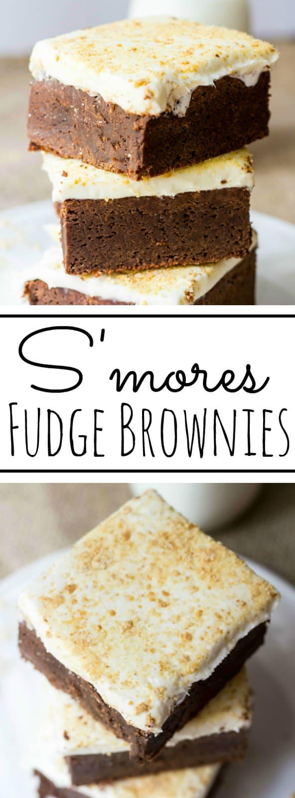 S'mores Fudge Brownies Collage