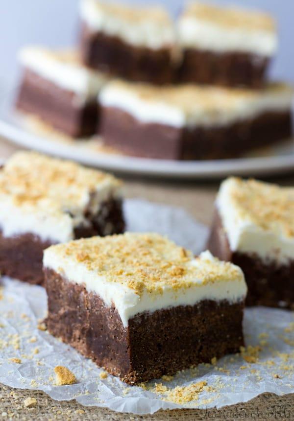 S'mores Fudge Brownies