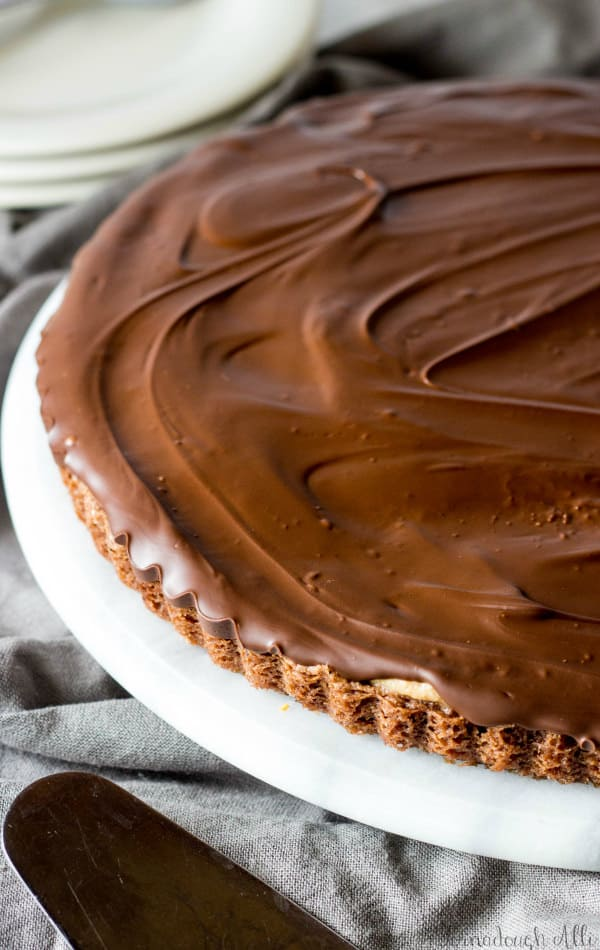 Brownie Bottom Peanut Butter Cup Tart