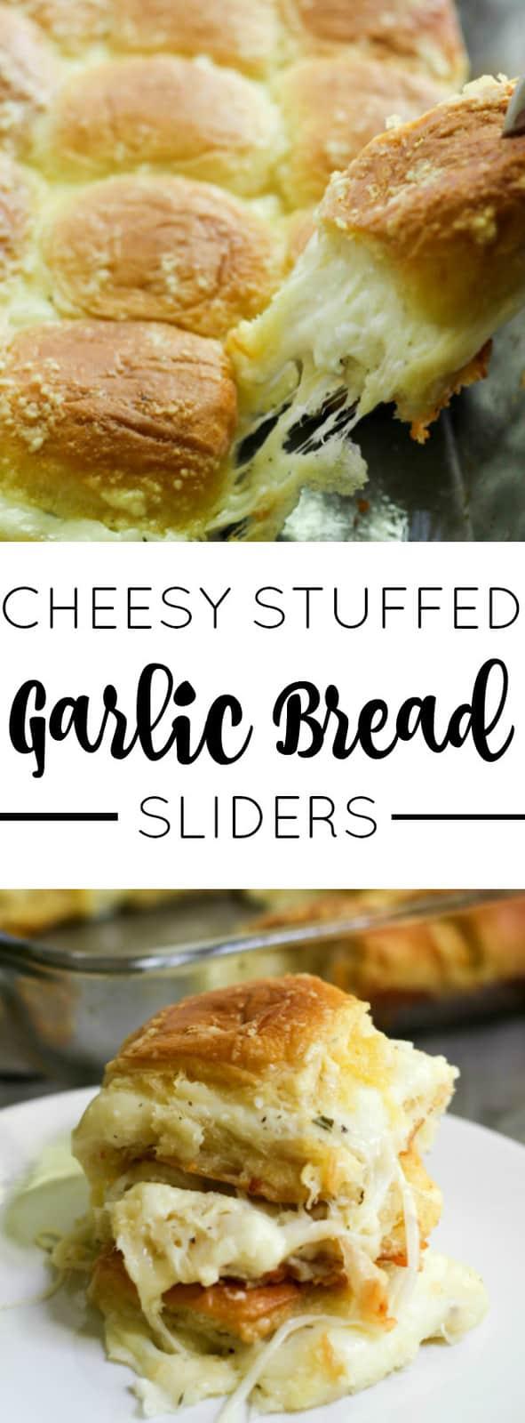 Cheesy Stuffed Garlic Bread Sliders