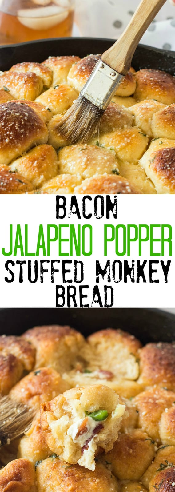 Bacon Jalapeno Popper Stuffed Monkey Bread