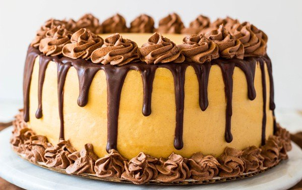 Peanut Butter Banana Cake with Whipped Ganache ...