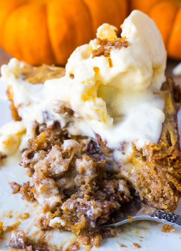 Caramel Pumpkin Spice Earthquake Cake