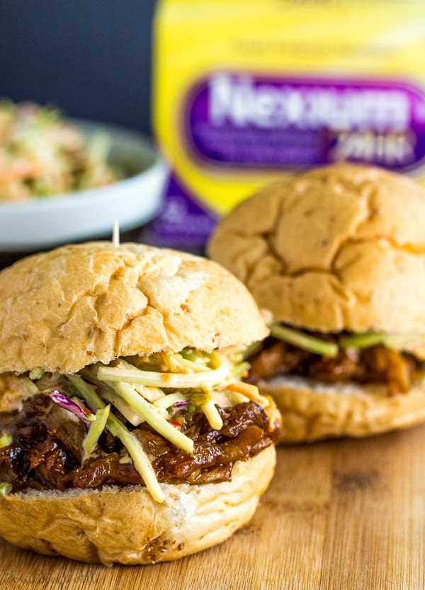Asian BBQ Pork Sliders with Kimchi Slaw