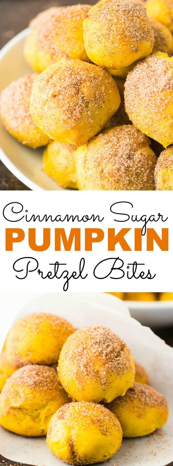 Cinnamon Sugar Pumpkin Pretzel Bites