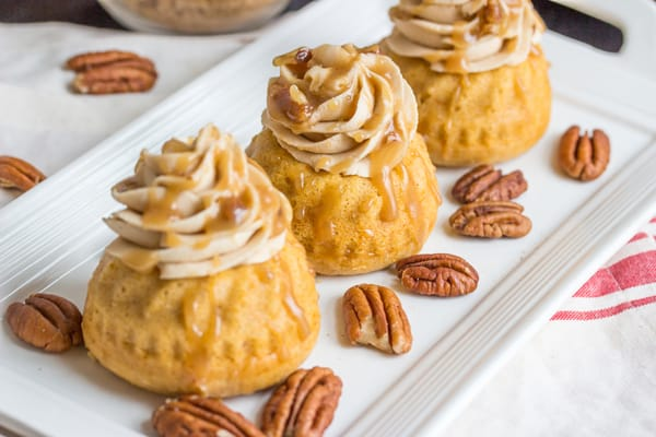 Sweet Potato Bourbon Mini Bundt Cakes | Thanksgiving Sweet Potato Recipes | Homemade Recipes