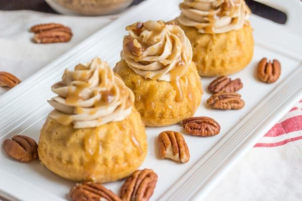 Sweet Potato Bourbon Mini Bundt Cakes