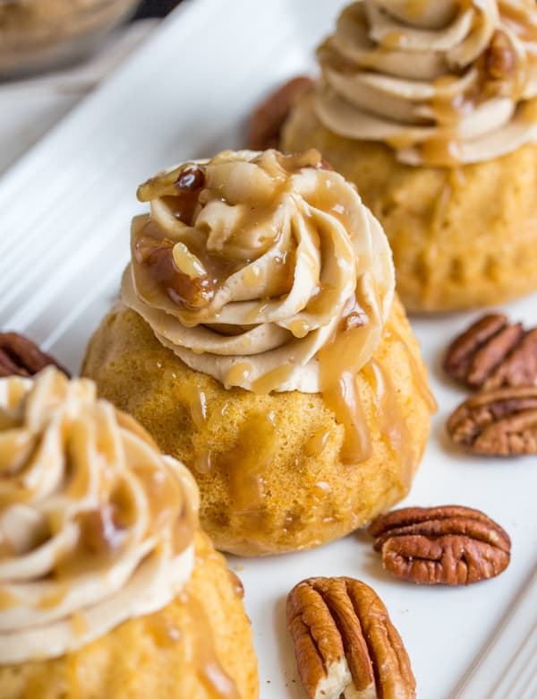 Sweet Potato Bourbons Mini Bundt Cakes