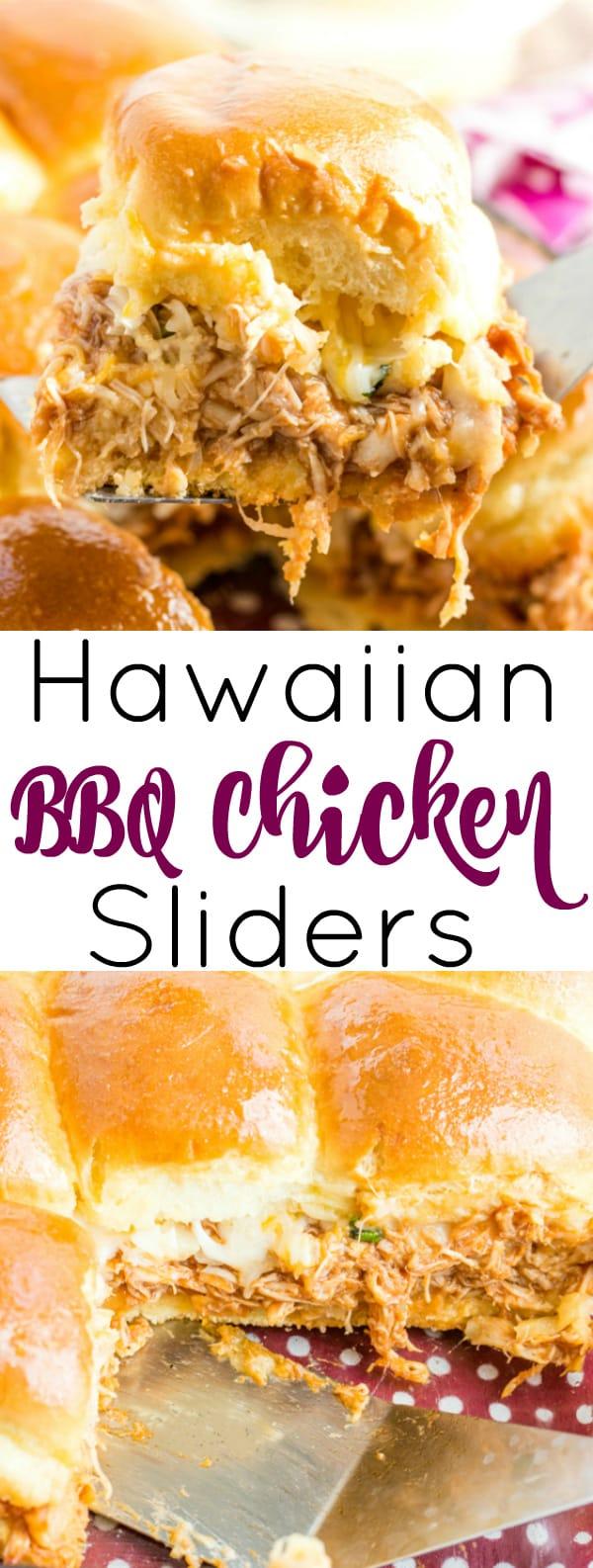 Hawaiian BBQ Chicken Sliders