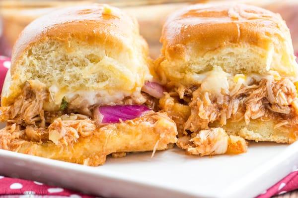 Hawaiian BBQ Chickene Sliders