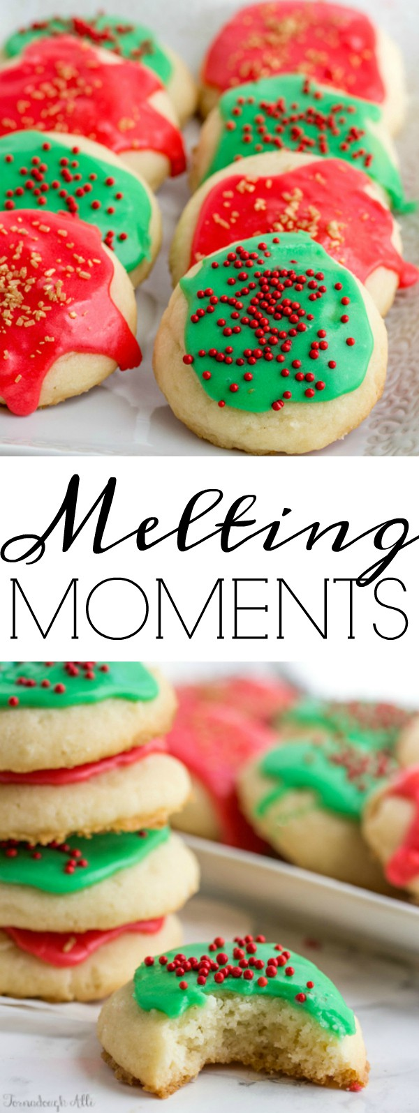 Delicious and utterly soft cookies these Melting Moments literally melt in your mouth with each and every bite. #cookies #holiday #christmas #baking #holidaybaking #delicious