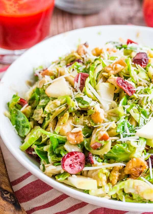 Shredded Brussel Sprout Harvest Salad