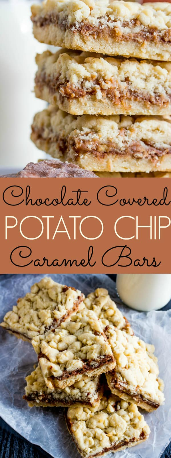 Chocolate Covered Potato Chip Caramel Bars