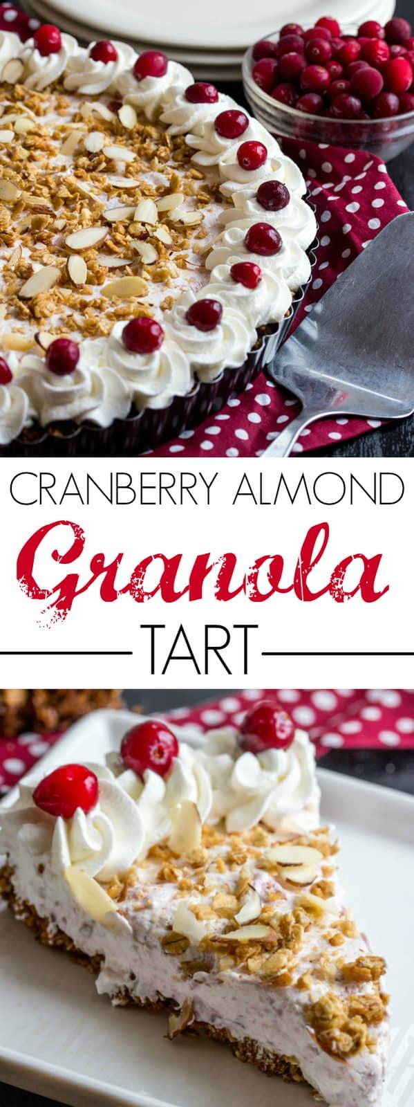 Cranberry Almond Granola Tart