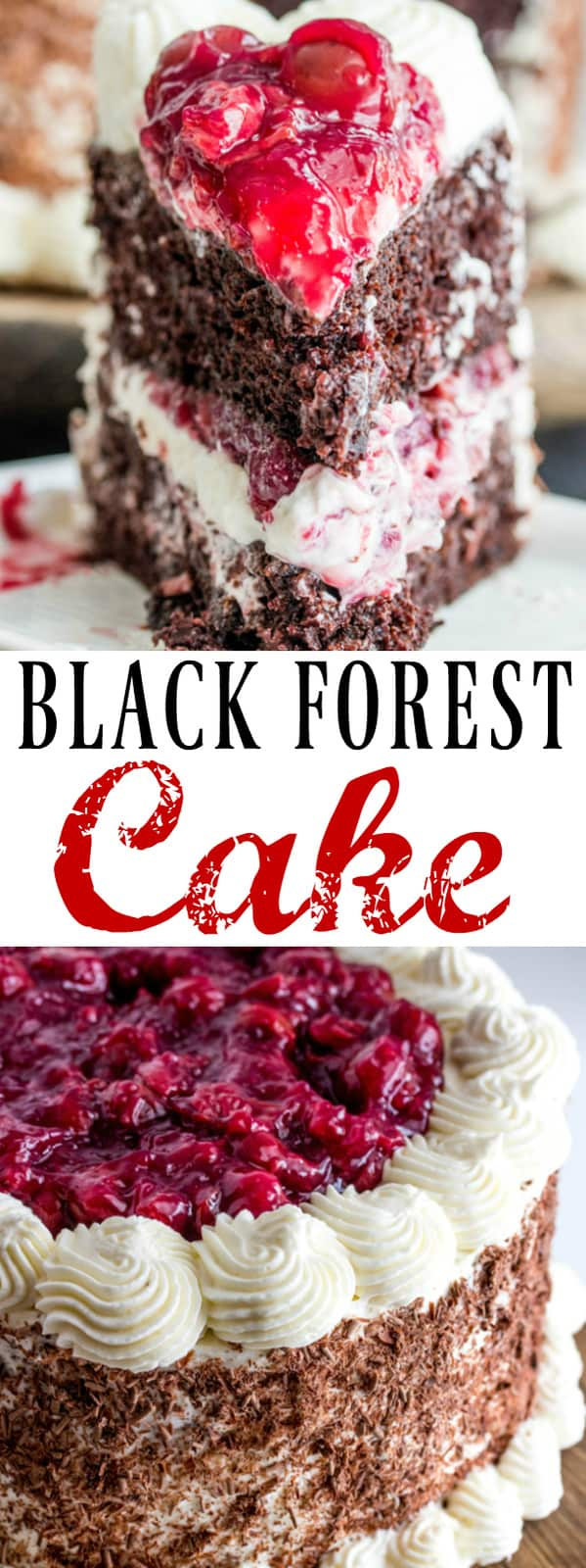 Easy Black Forest Recipe With Chocolate Shavings