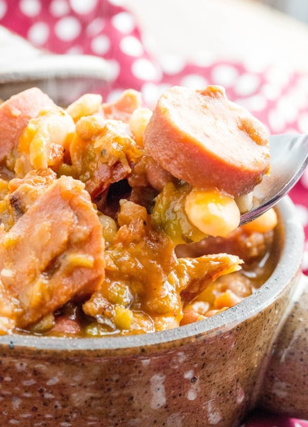 Cajun Ham and Sausage Bean Soup