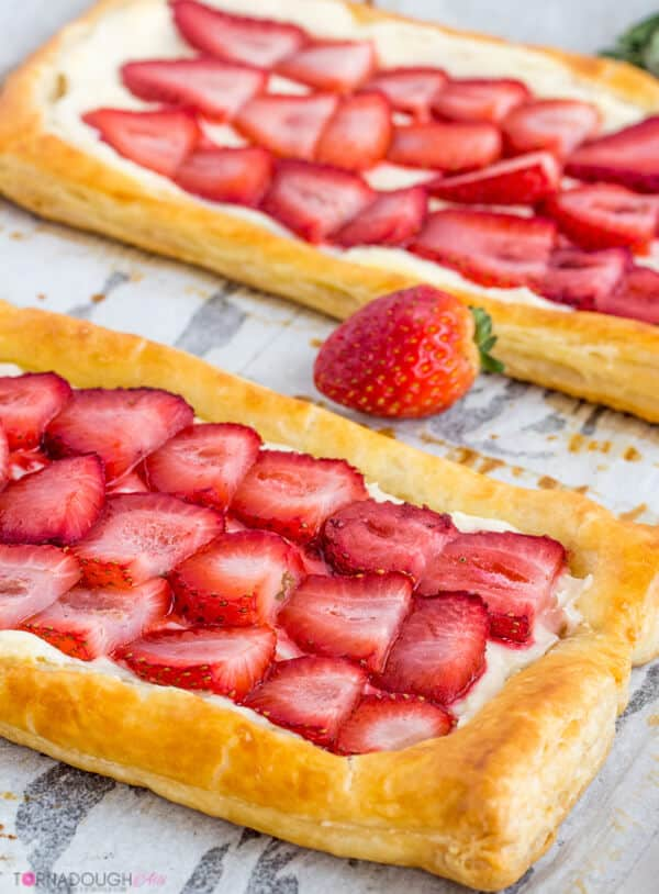 Strawberries and Cream Puff Pastry
