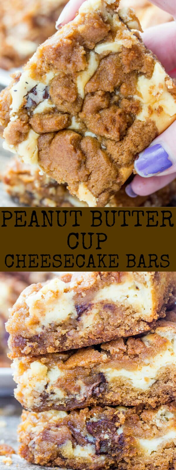 Peanut Butter Cup Cheesecake Bars