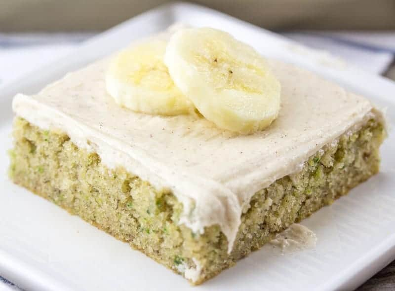 Banana Zucchini Sheet Cake