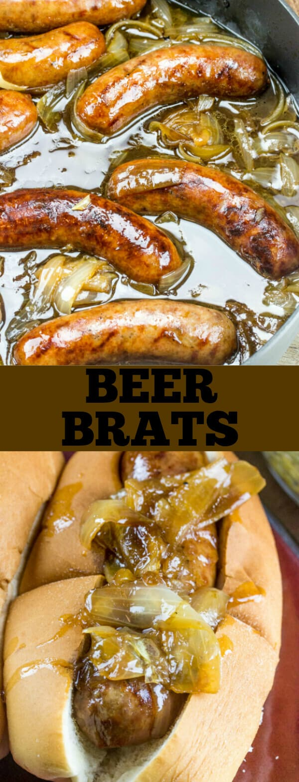 These simple but delicious Beer Brats are a fun, quick and easy Spring and Summer staple that takes a classic and gives it the best spin!
