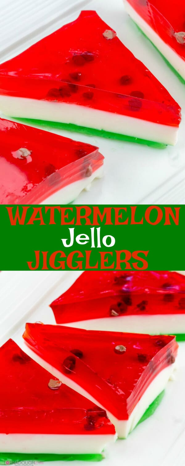 Watermelon Jello Jigglers