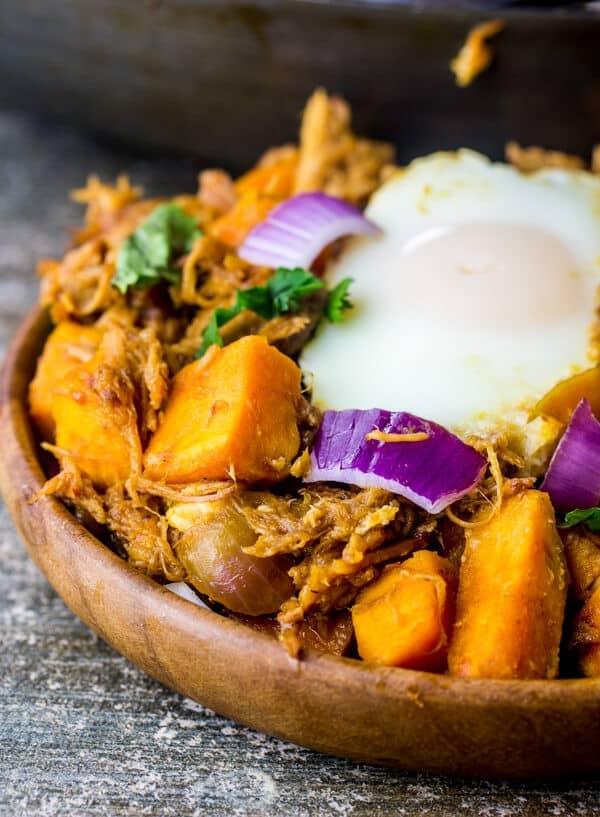 BBQ Pork Sweet Potato Hash