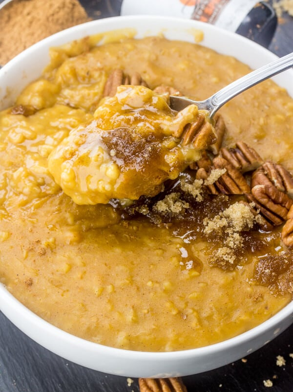 Slow Cooker Pumpkin Steel Cut Oats