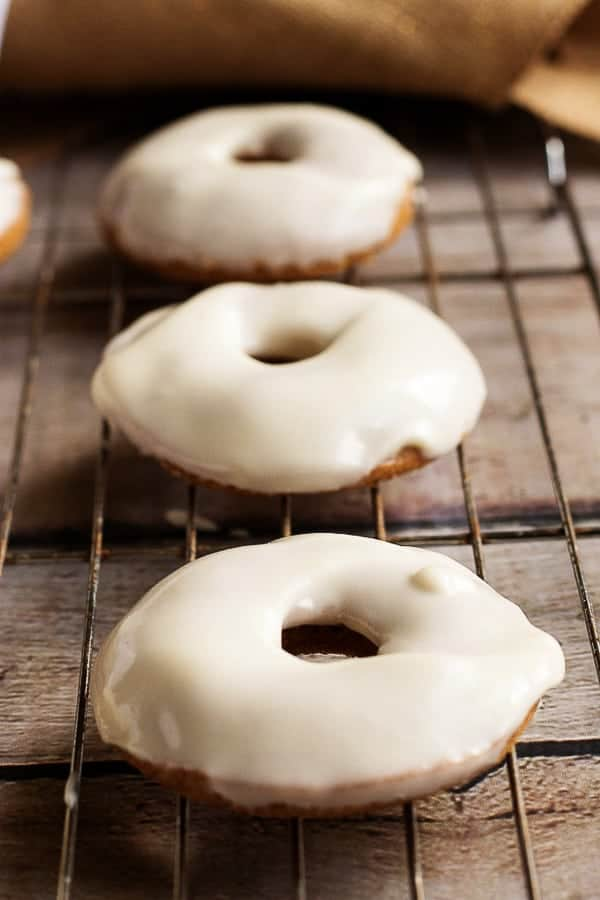 A traditional cake donut infused with pumpkin and covered in a decadent, cream cheese glaze.  Our pumpkin donuts are sure to be your favorite Fall treat!