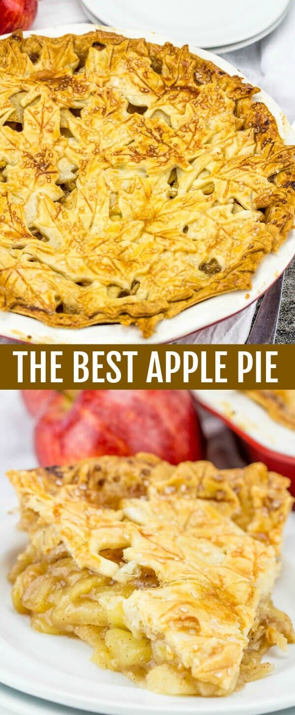 The Best Apple Pie {A Fun Fall Themed Apple Pie} pie/apple/fall baking Who can resist The Best Apple Pie? Decorated with fun fall leaves this is definitely a show stopping pie!