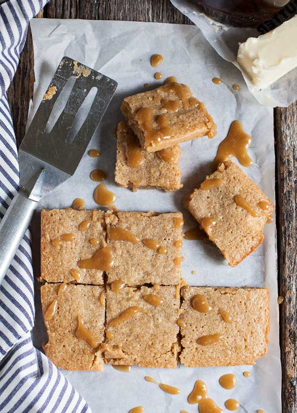 Rich, sweet and gooey, maple brown butter blondies are an easy treat and a little different than your usual chocolate.