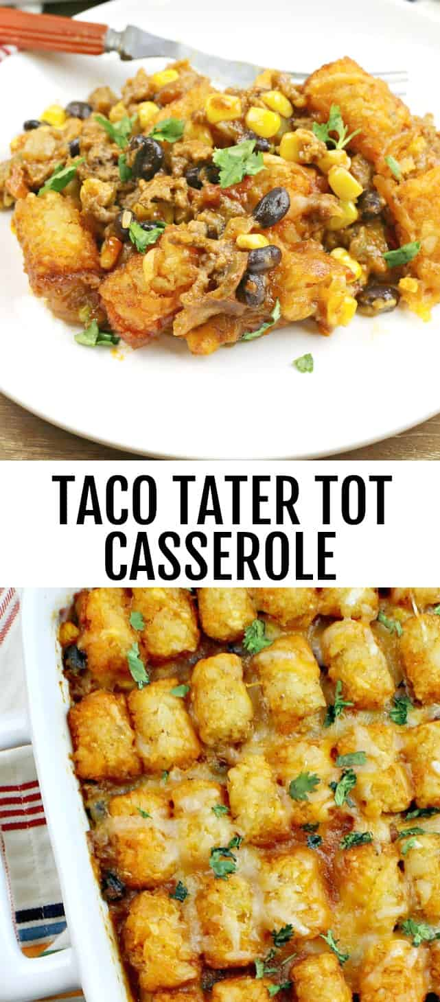 Tater Tot Taco Casserole {A Quick and Easy Weeknight One Dish Meal}