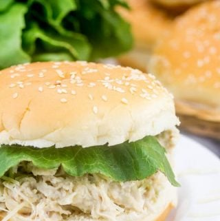 Instant Pot Chicken Caesar Sandwiches