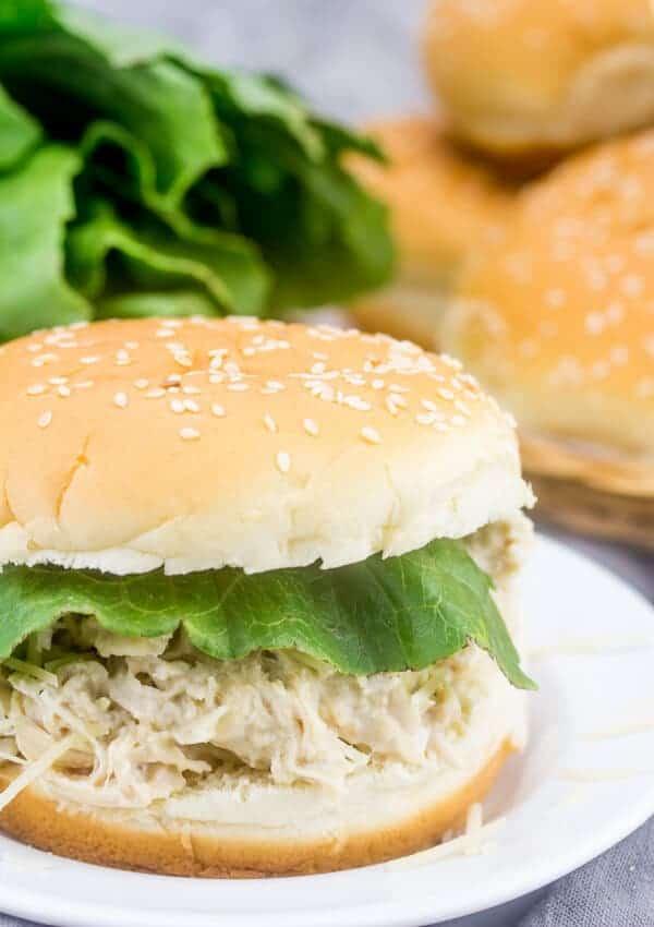 Instant Pot Chicken Caesar Sandwiches