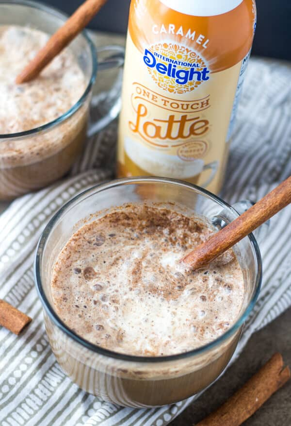 Caramel Gingerbread Lattes