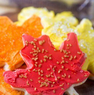 Falling Leaves Sugar Cookies