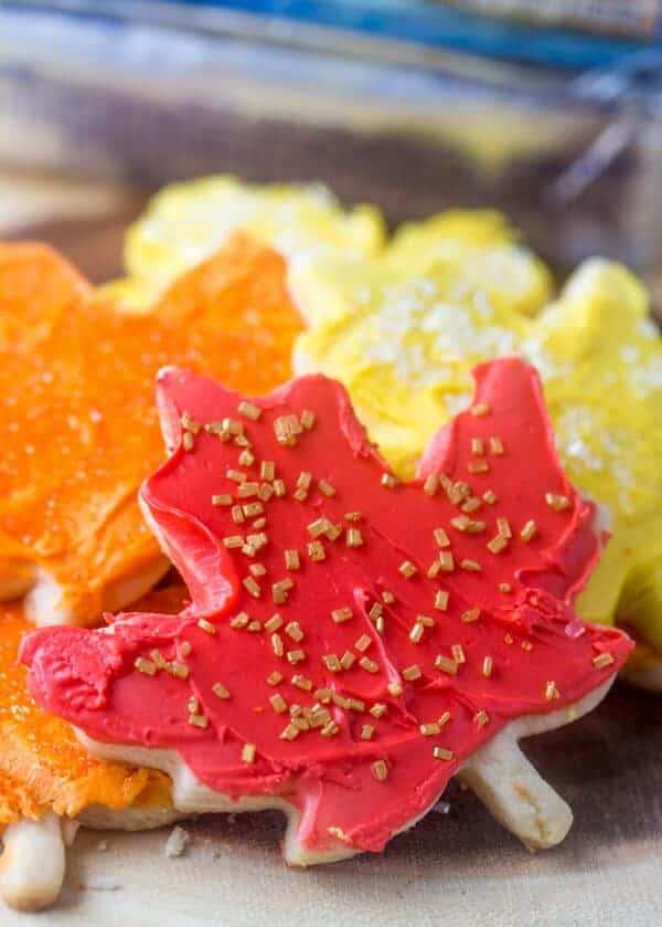 Falling Leaves Sugar Cookies