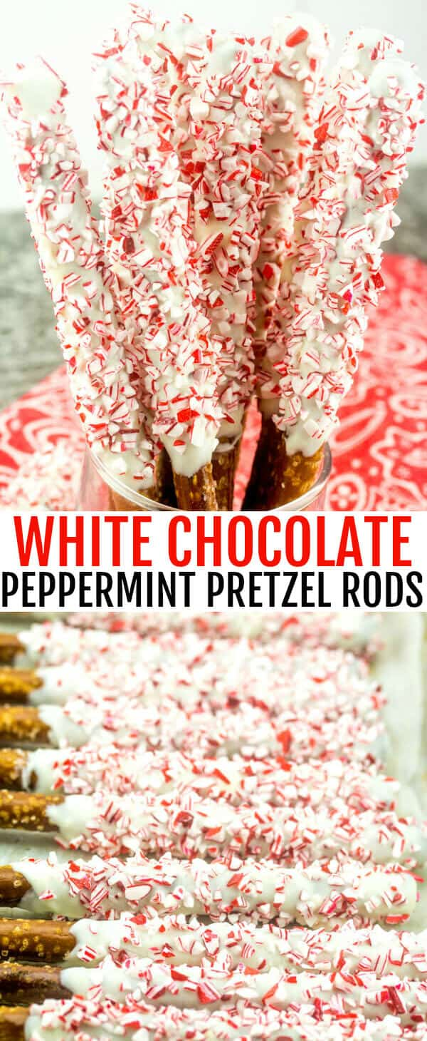 White Chocolate Peppermint Pretzel Rods A Quick Easy Fun