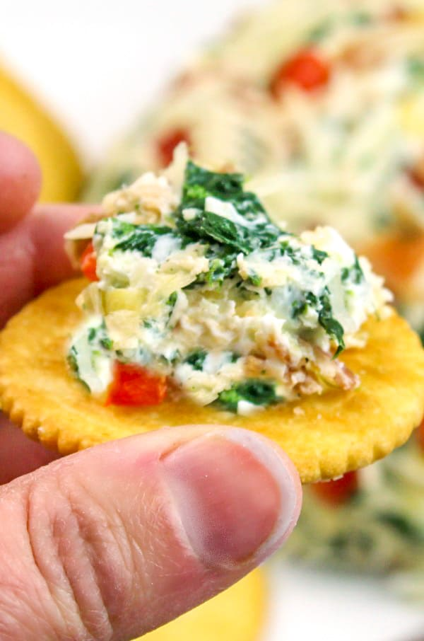 Spinach Artichoke Cheese Ball {The Perfect Party Appetizer}