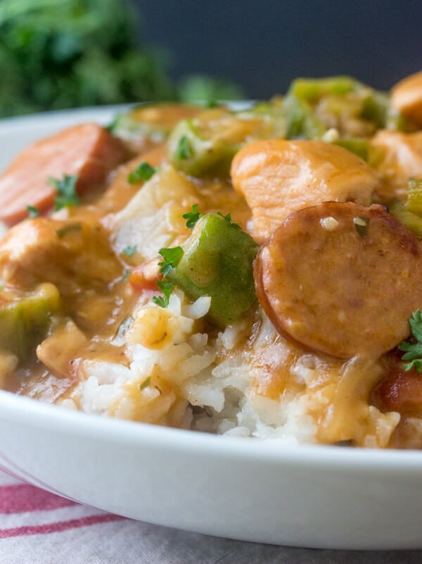 Chicken and Sausage Gumbo {A Warm Comforting Southern Meal}