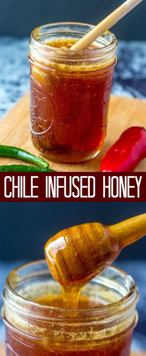 A little bit sweet and a little bit spicy this Chile Infused Honey is the perfect addition to drizzle all over your favorite foods!