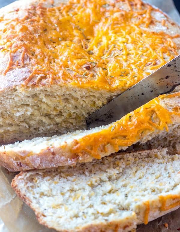 Rosemary Cheddar Dutch Oven Bread