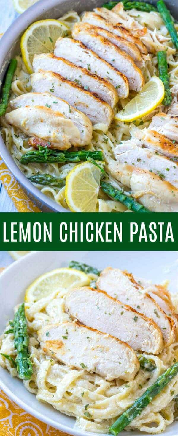 Creamy, hearty and delicious this Lemon Chicken Pasta is an easy family recipe that the whole family can enjoy.